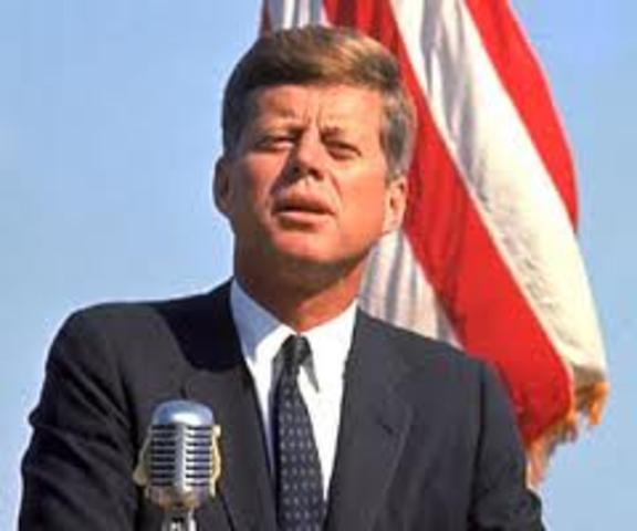 John F. Kennedy's inauguration as president of U.S.