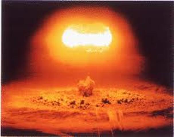 USSR fires 50-megaton hydrogen bom; biggest explosion in history.