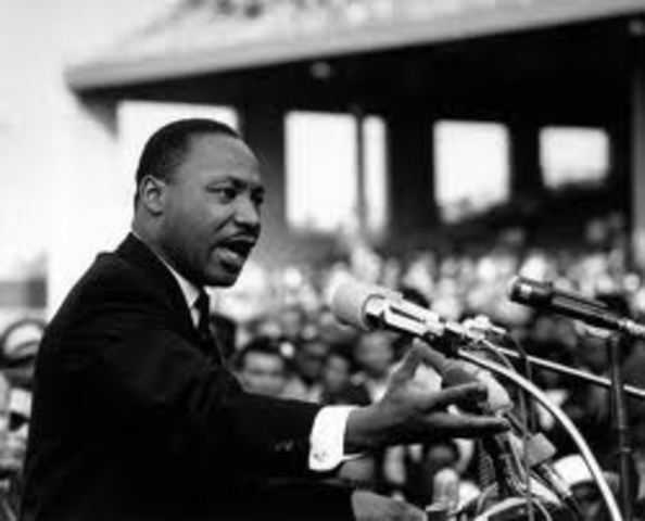 """Martin Luther King delivers """"I have a dream"""" speech."""