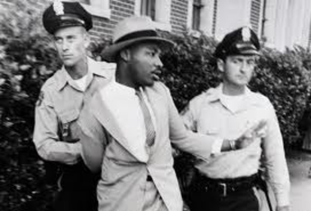 Rev. Dr. Martin Luther King, Jr., and more than 2,600 other blacks arrested in Selma, Ala., during three-day demonstrations against voter-registration rules.