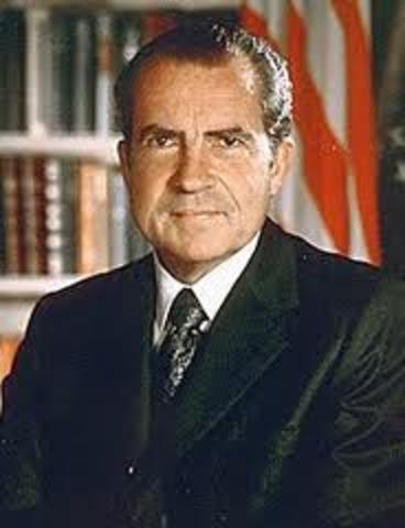 Richard M. Nixon is inaugurated 37th president of the U.S.