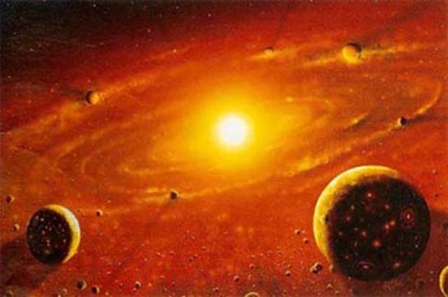 (5 Billion Years Ago) Early Solar System