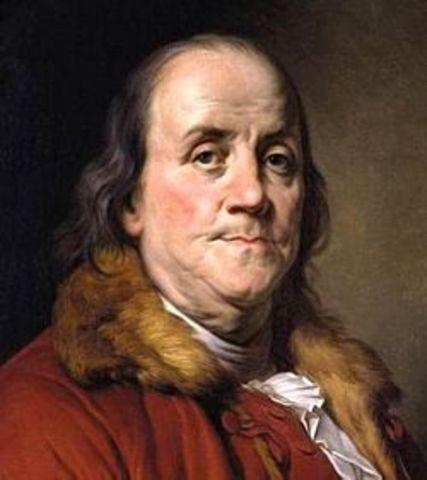 Ben Franklin goes to France