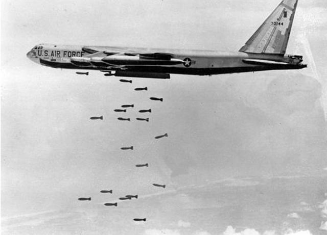United States warplanes begin their bombing raids of Hanoi and Haiphong, North Vietnam