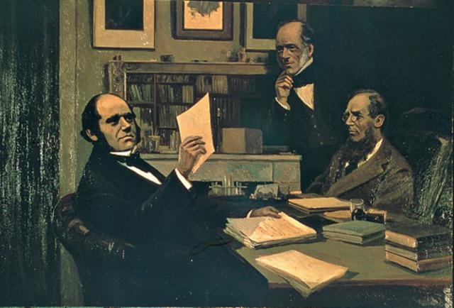 Se expone en la sociedad Linneana las teorías de Darwin y Wallace