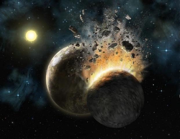 (4.6 BYA) 4.6 Billion Years ago.