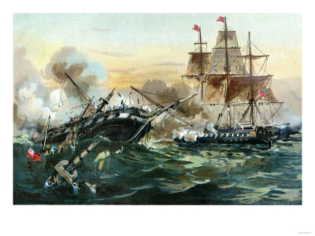 USS Constitution scores a victory