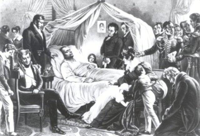 Napoleon Bonaparte dies on St. Helena