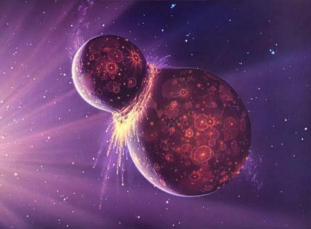 (4.6 BYA) Growing of the Earth's size
