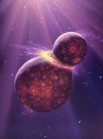 (4 BYA) Moon and Earth's Surface