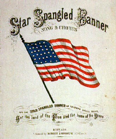 The writeing of the Star Spangled Banner