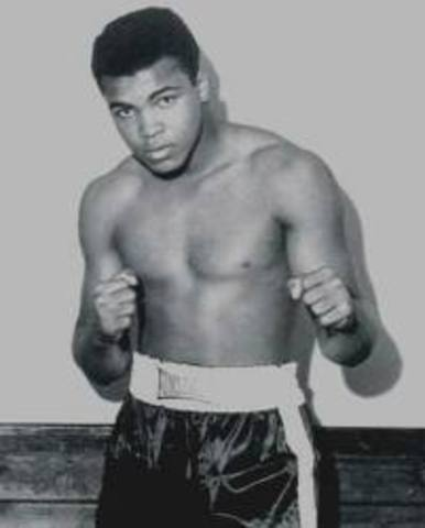 Cassius Clay (Muhammed Ali) Wins His First Professional Boxing Match
