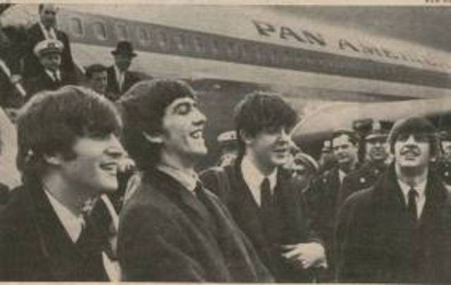 The British Rock Band The Beatles Lands at JFK International Airport, Marking Their First Trip to America