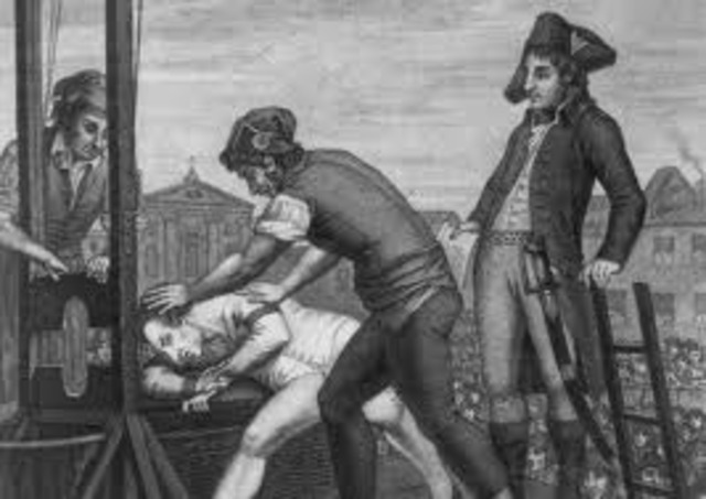 Maximilien Robespierre is sent to the Guillotine
