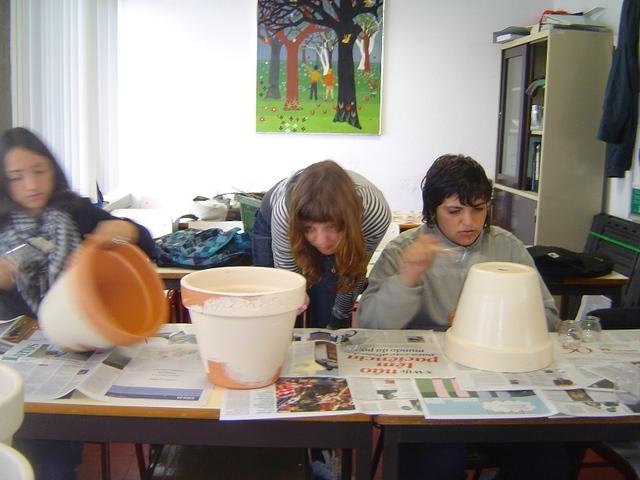 CEF Jardinagem - pintura de vasos