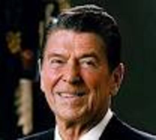 Ronald Reagan becomes president