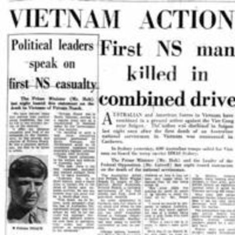 First conscript dies