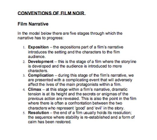 film noir convention's