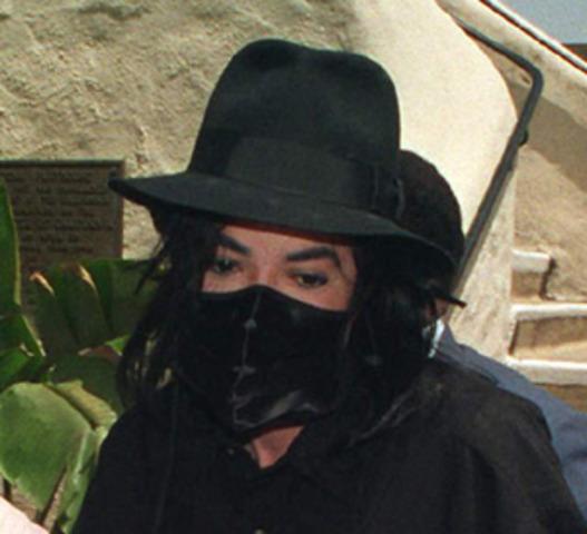 Jackson wears a black ski mask, Jackson shops at Wal-Mart.