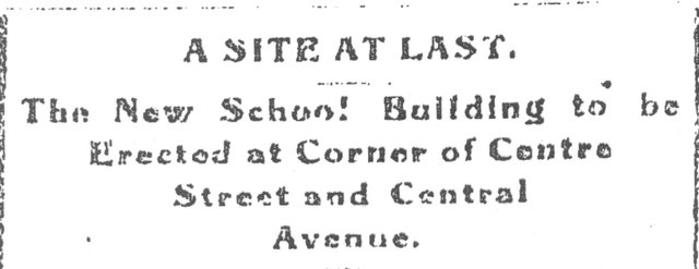 The Building of Center Street School