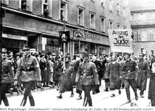 nazis begin collecting Jews for labour camps