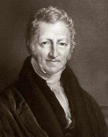 Thomas Malthus; Born