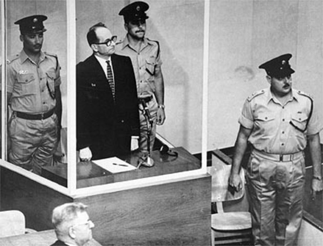 Adolf Eichmann on Trial for Role in Holocaust
