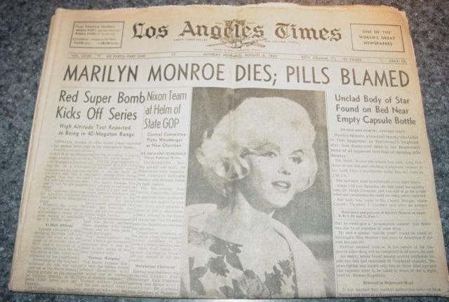 Marilyn Monroe Found Dead