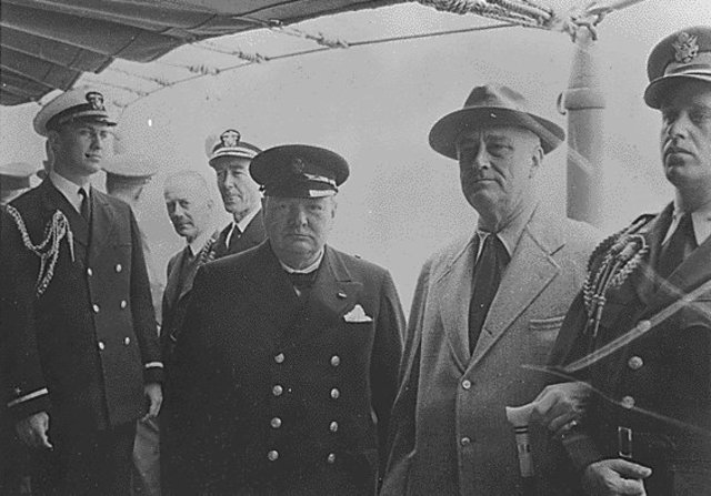 FDR and Churchill issue Atlantic Charter