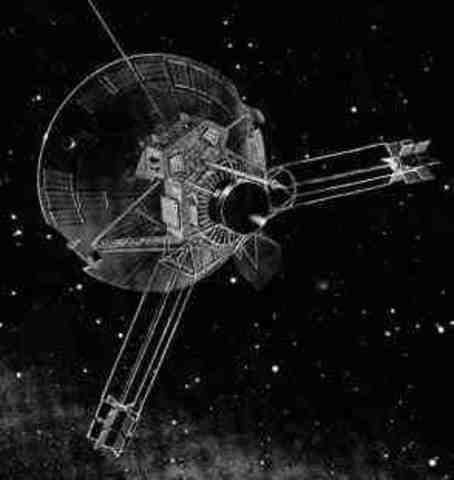 The last successful telemetry from the NASA space probe Pioneer 10.