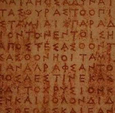 800 a.C. ALFABETO GRIEGO