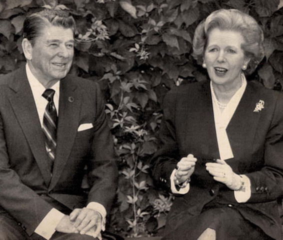 Ronald Reagan and Margret Thatcher
