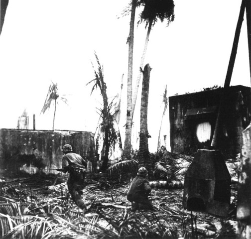 US 4th Marine Division forces begin landing on Kwajalein in the Marshall Islands.