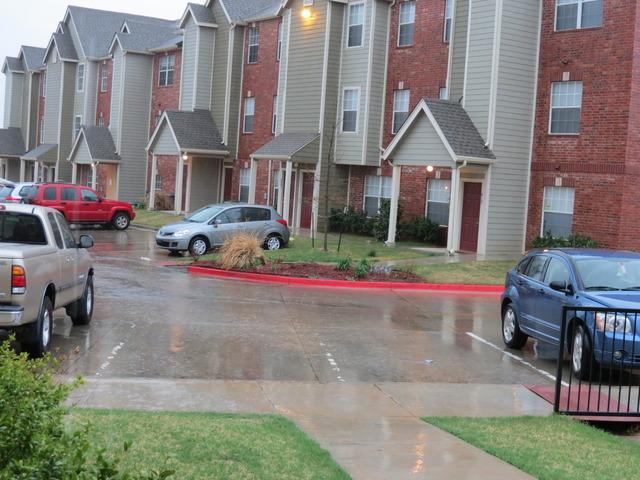 It rained...