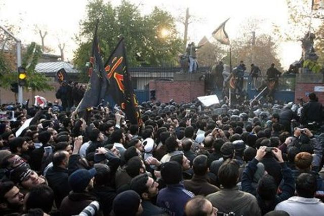 Shah enters U.S.; Embassy in Tehran seized