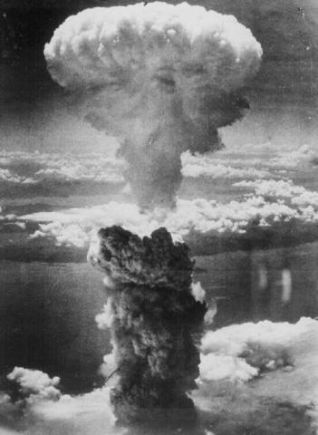 First atomic bomb dropped on Hiroshima.