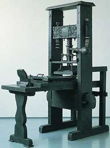 Printing Press Invented
