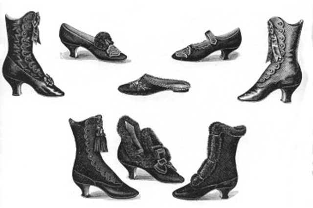 prolonged mourning by Queen Victoria after Albert's death in 1861 popularised dark shoes