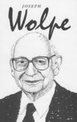'Psychotherapy by Reciprocal Inhibition '  is published by Joseph Wolpe