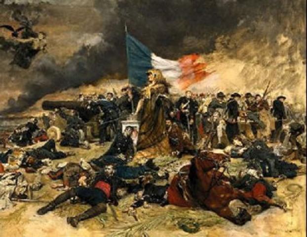 Iniciou-se a guerra contra a Áustria e a Prússia