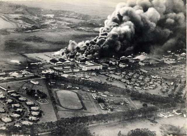 Pearl Harbour attacked by Japan