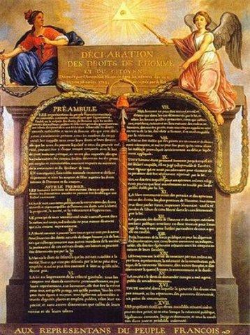 Proclama a declaração dos direitos do homem e do cidadão