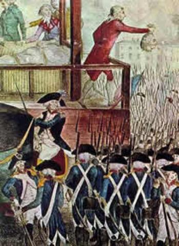 Robespierre, Sain-Just e companheiros são guilhotinados
