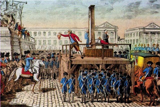 Luís XVI morto na guilhotina