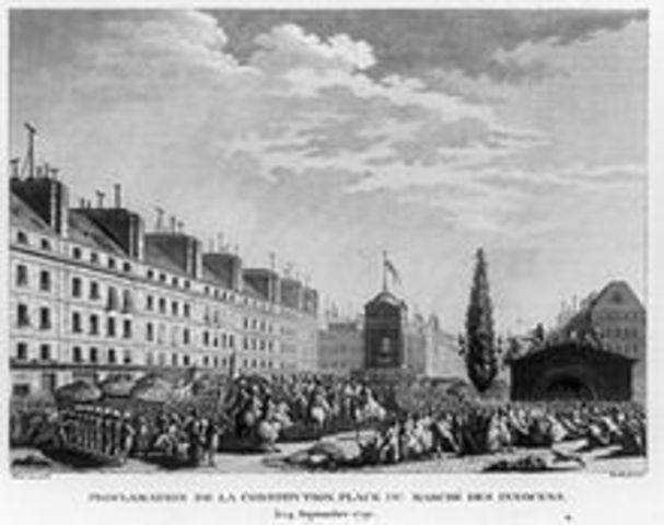 Promulgação da Primeira Constituição para a França