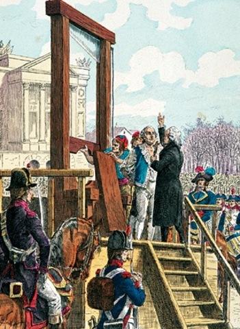 Os Robespierre e o Saint-Just são guilhotinados