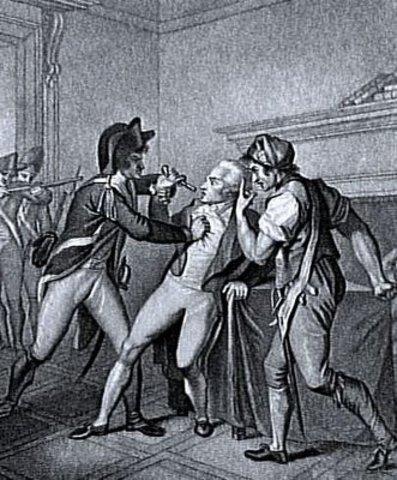 Robespierre e Saint-Just e seus companheiros são guilhotinados