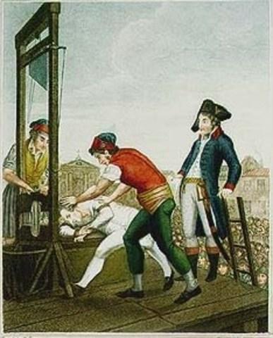 Robespierre e Sanit-Just são guilhotinados
