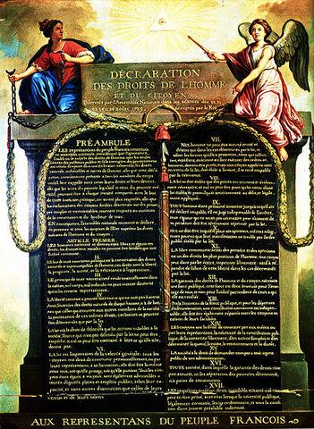 Proclamada a declaração dos Direitos do Homem e Cidadão