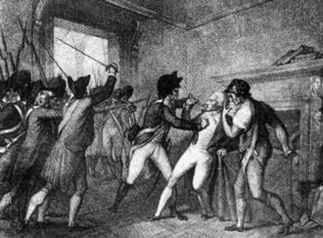 Robespierre, Saint-Just e seus companheiros são guilhotinados